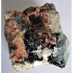 Hessonit xx Grossular, Pennin, Diopsid, Klinochlor