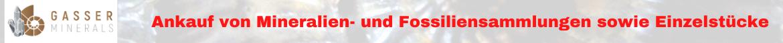 Ankauf von Mineralien- und Fossiliensammlungen sowie Einzelstücke